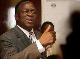 Vice-President Emmerson Mnangagwa left for Rome