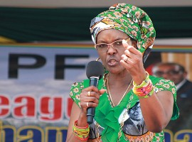 Mugabe announces appointment of controversial wife Grace to a key post