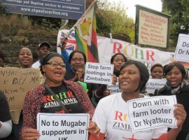 Zimbabweans in new protest at looting British GP