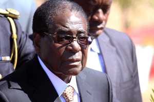 Mugabe in SA, leaves wife Grace behind