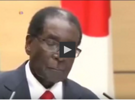 WATCH: Mugabe appears to doze off during Japanese press briefing