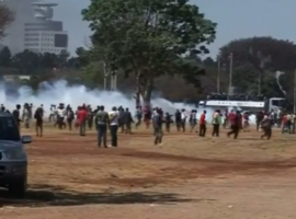 Demonstrators beaten and assaulted after being arrested during Zimbabwe protests