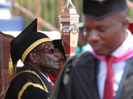 Student protests at Mugabe-attended Zimbabwe graduation